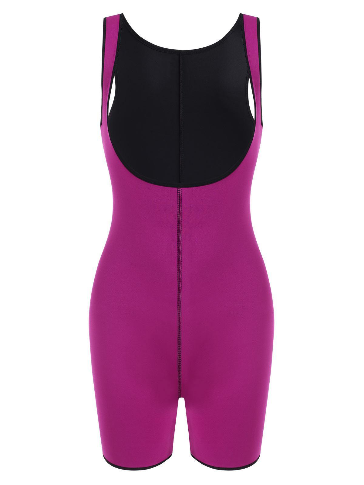 Open Bust Topstitching Slimming Corset Bodysuit Shaper
