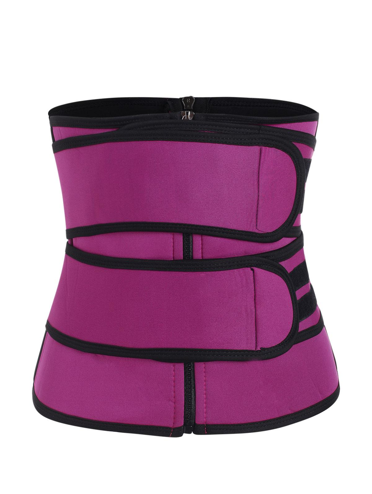Hook And Loop Zip Up Waist Trainer Corset