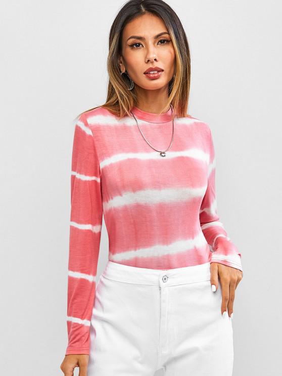 women ZAFUL Tie Dye Long Sleeve T-shirt - MULTI-A L
