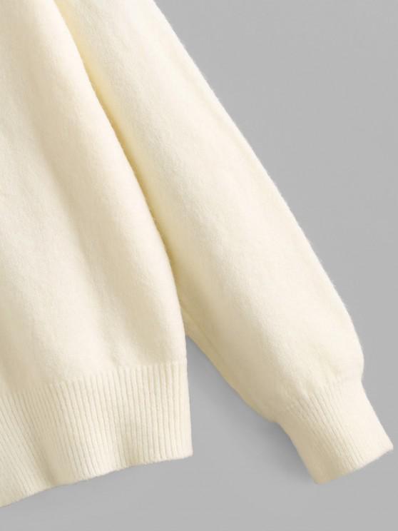 Beading Button Up Cardigan - White | ZAFUL
