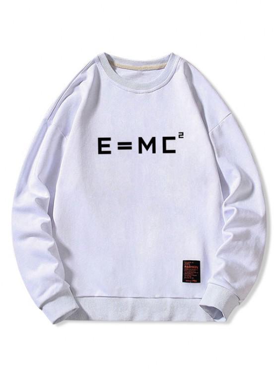 outfits Letter Graphic Applique Crew Neck Sweatshirt - WHITE L