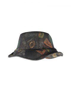 Printed Denim Pattern Bucket Hat - Multi-c