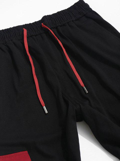 Pantalones de Carga de Panel de Bolsillo de Bloqueo de Color - Negro XS Mobile