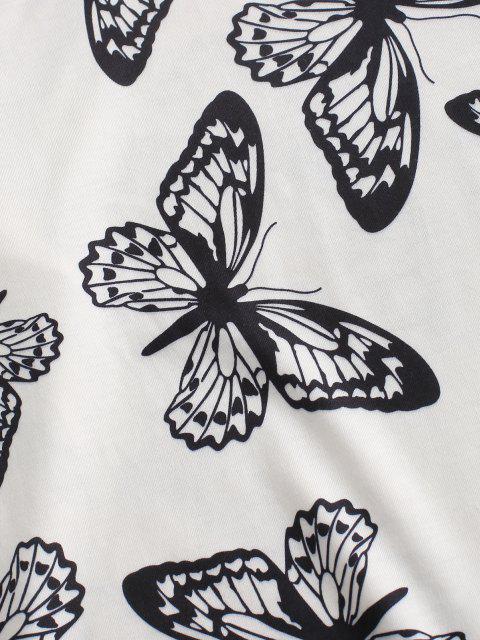 Fallschulter Schmetterling Zweiteilige Biker Shorts Set - Schwarz M Mobile