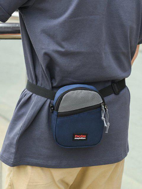 ladies Mesh Panel Mini Crossbody Bag - BLUE  Mobile