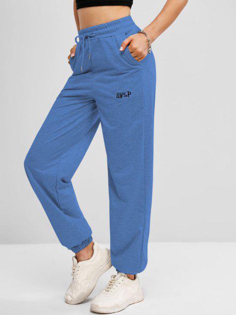Pantalon de JoggingBrodé à Cordon - Bleu Taille Unique Mobile