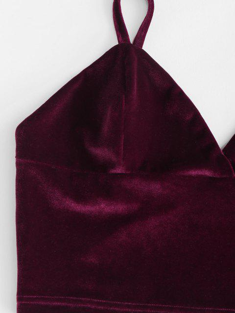 Top Bralette in Velluto - Profondo rosso L Mobile