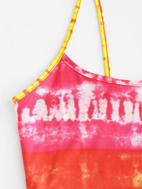 Vestido Cami Teñido Anudado - Rojo S Mobile