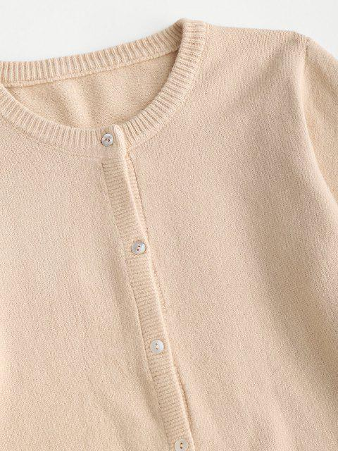 hot Basic Button Up Cardigan - LIGHT COFFEE ONE SIZE Mobile