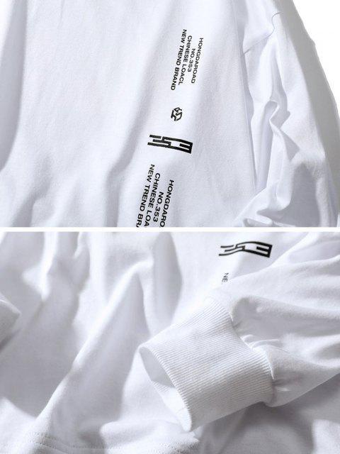 Camiseta con Estampado Gráfico de Letras - Blanco M Mobile