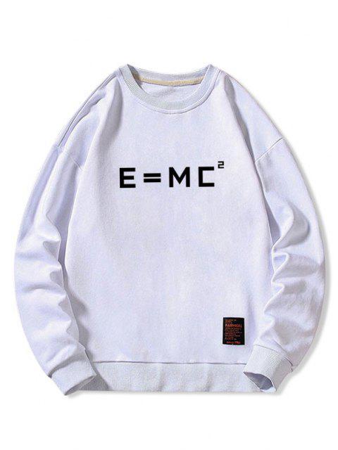 outfits Letter Graphic Applique Crew Neck Sweatshirt - WHITE L Mobile