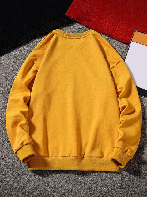 buy Stand By Astronaut Graphic Sweatshirt - GINGER BROWN L Mobile