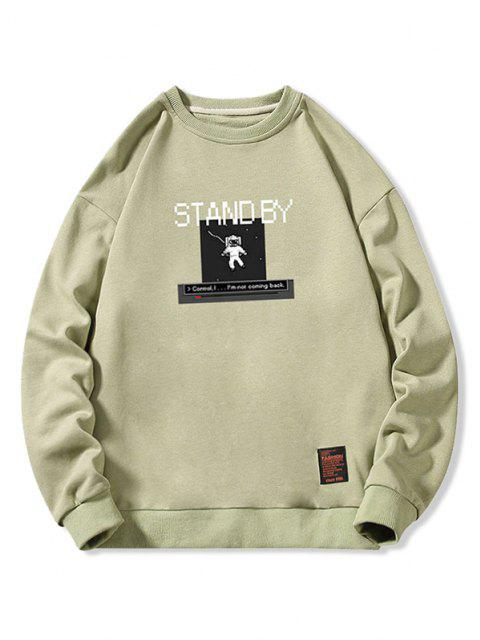 new Stand By Astronaut Graphic Sweatshirt - LIGHT GREEN XS Mobile