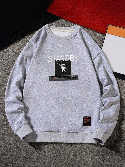 women's Stand By Astronaut Graphic Sweatshirt - GRAY XS Mobile