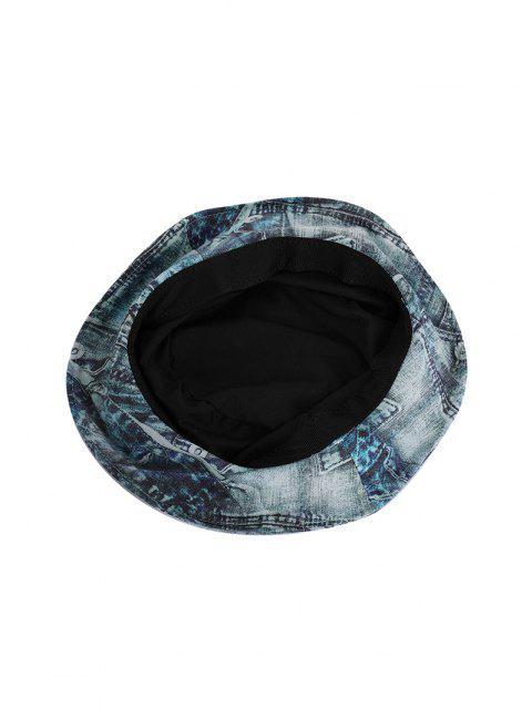buy Printed Denim Pattern Bucket Hat - MULTI-B  Mobile