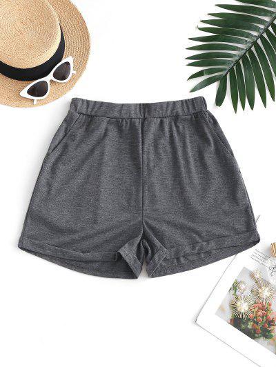 ZAFUL Pull On Pocket Cuffed Shorts - Dark Gray L