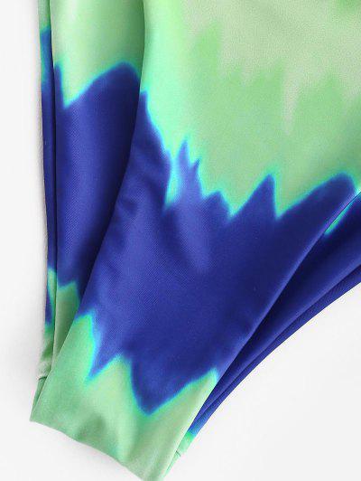 ZAFUL Tie Dye String Bikini Swimsuit, Light green