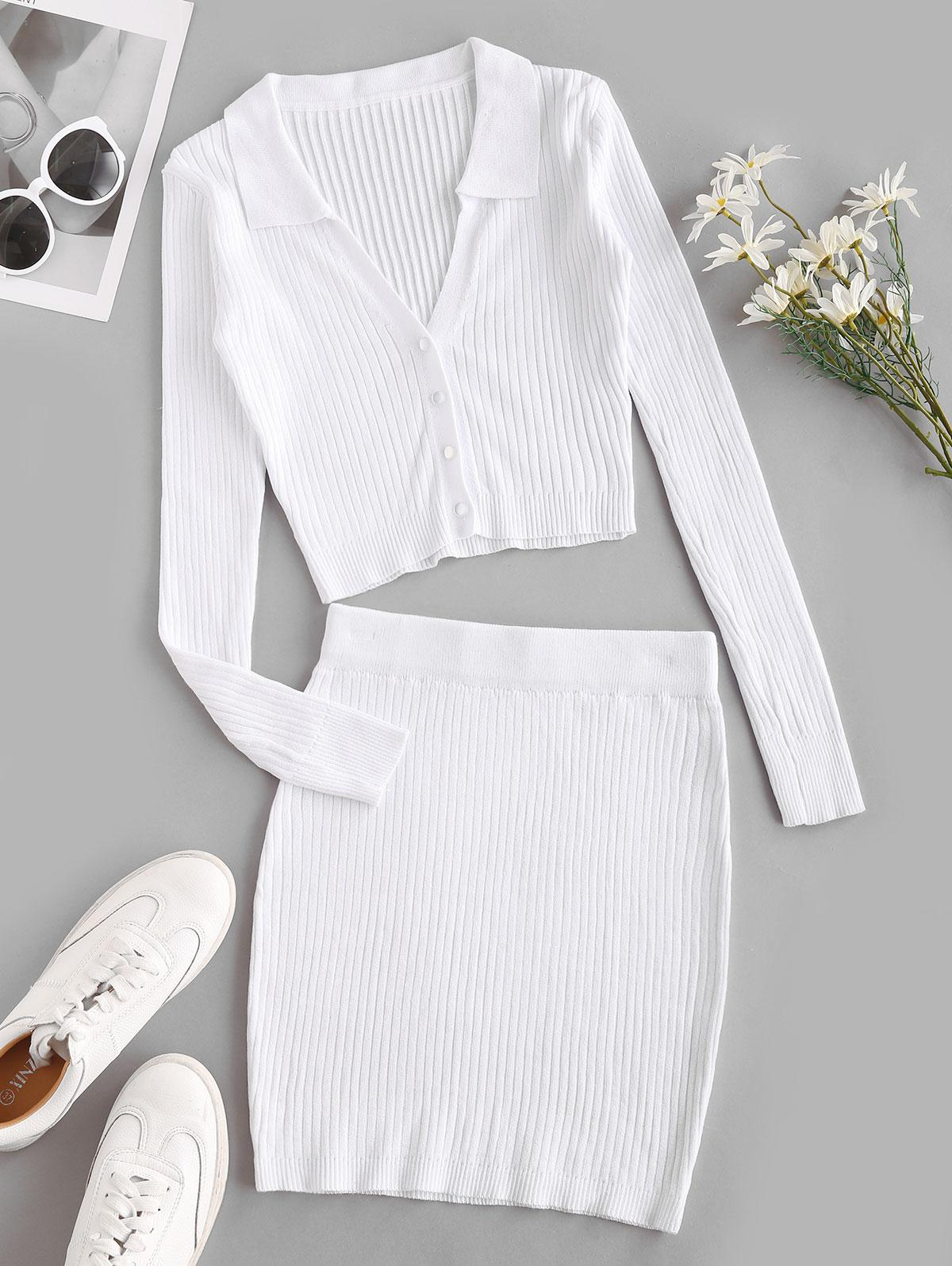 Knit Bodycon Two Piece Dress
