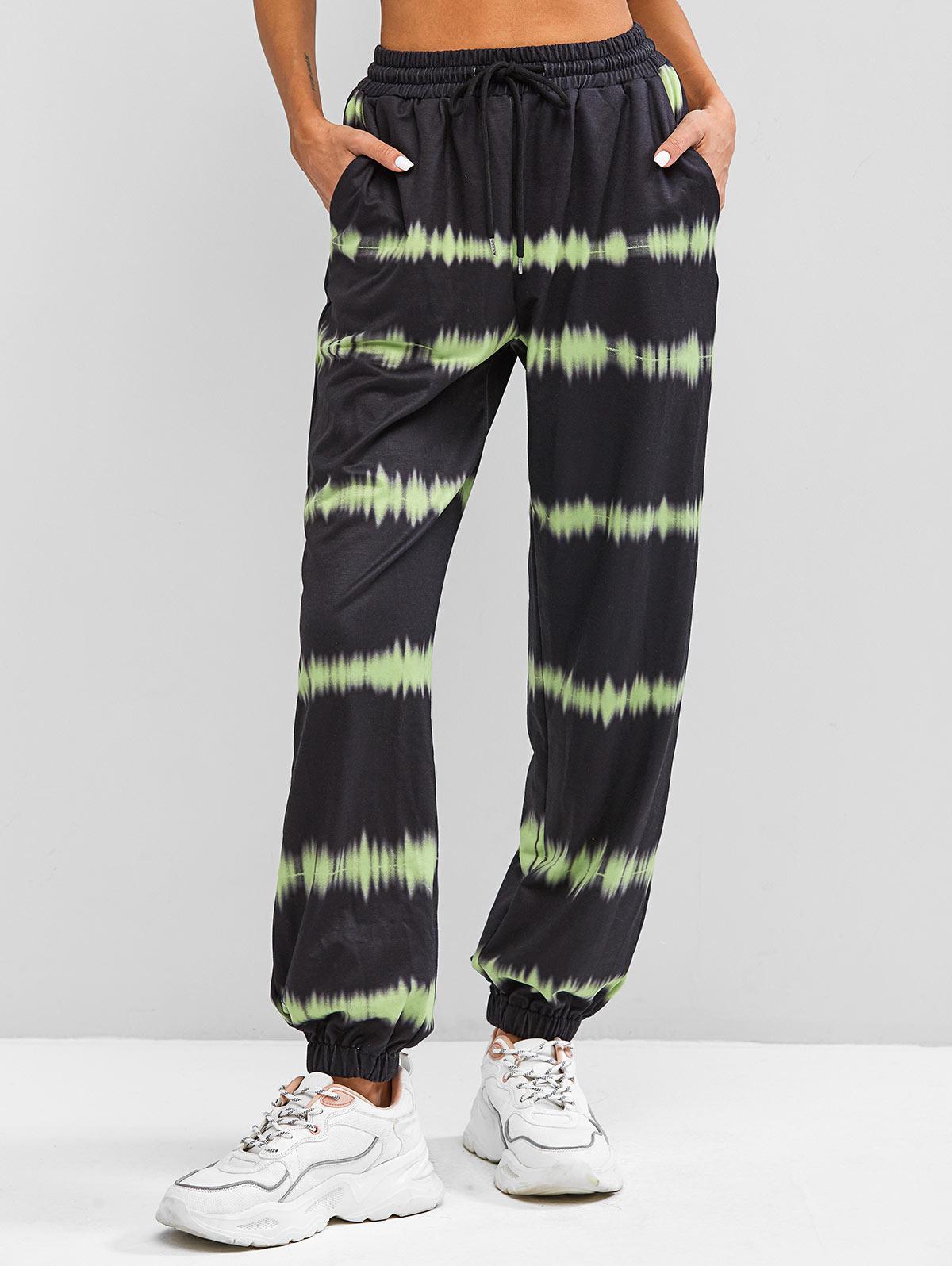 ZAFUL High Waisted Tie Dye Jogger Pants