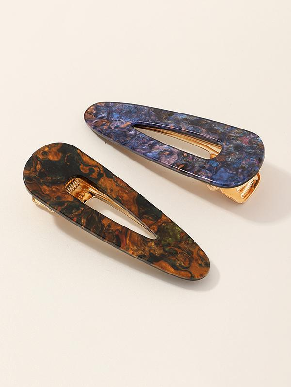 2Pcs Hollow Hair Clip Set