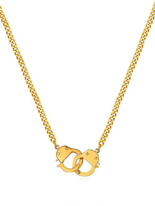 18K Gold Plated Handcuff Necklace