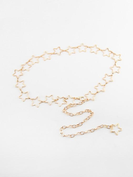 latest Hollow Out Star Waist Chain - GOLDEN