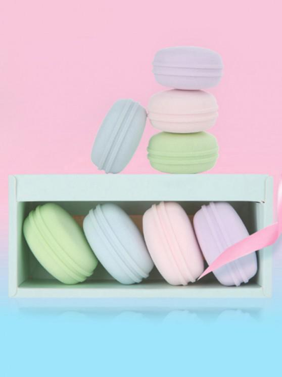 ladies Dry and Wet Durable Use Macaron Makeup Sponge - MULTI-A
