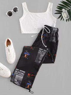 Ensemble Deux Pièces T-shirt Et ShortImprimé - Noir M