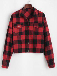ZAFUL Camisa Casual A Cuadros - Rojo Xl