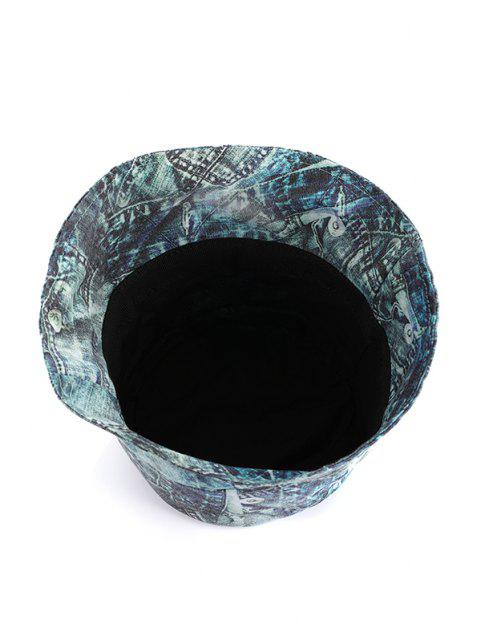 women Washed Denim Print Bucket Hat - MULTI-A  Mobile