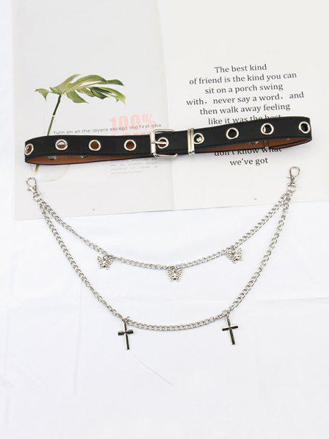 outfit Layered Chain Butterfly Pendant Belt - MULTI-B  Mobile