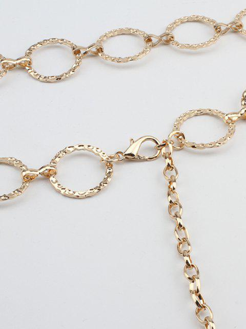 Strukturierte Hohle Kreis Taille Kette - Golden  Mobile