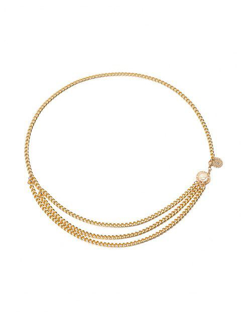 trendy Egirl Retro Layered Waist Chain - GOLDEN  Mobile