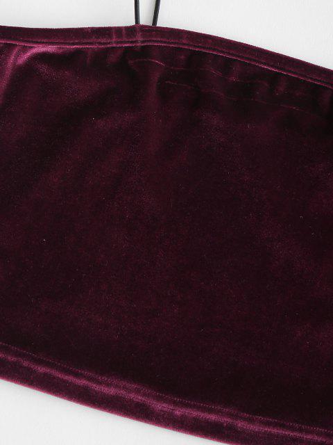 174cm Cami Top Faísca de Veludo Queimado - Vermelho escuro M Mobile