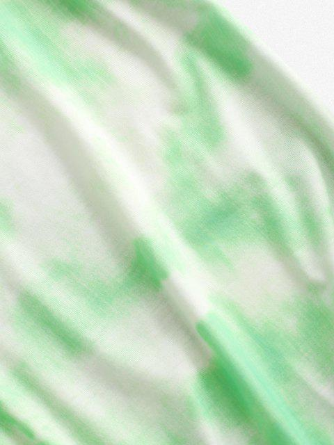 best Tie Dye Lounge Two Piece Set - LIGHT GREEN M Mobile