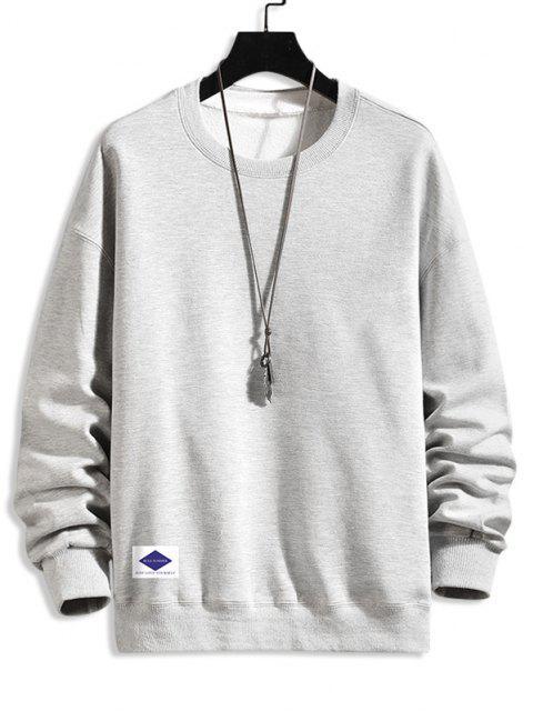 hot Lounge Crew Neck Drop Shoulder Sweatshirt - PLATINUM 3XL Mobile