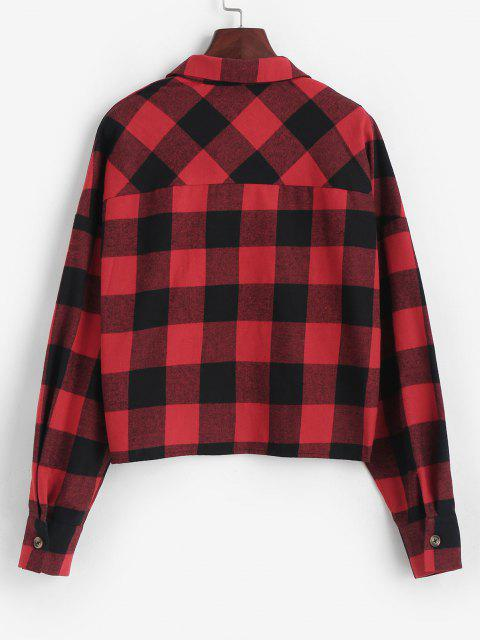 womens ZAFUL Plaid Casual Shirt - RED XL Mobile