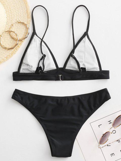 shop ZAFUL Padding Bikini Set - BLACK S Mobile