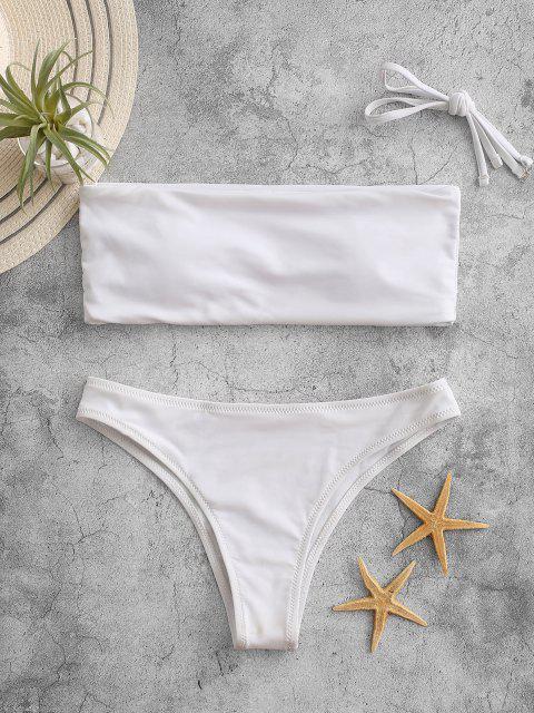 Costume Da Bagno A Fascia Con Taglio Alto Con Perizoma - Bianca M Mobile