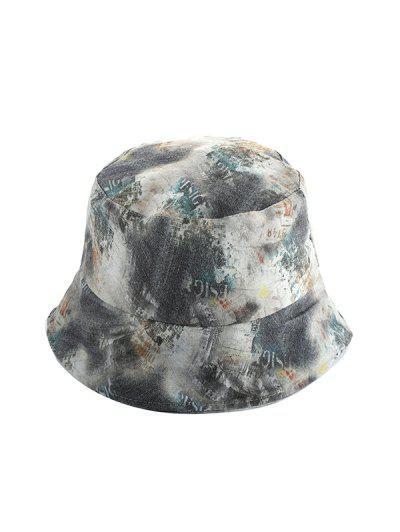 Washed Denim Print Bucket Hat - Multi-b