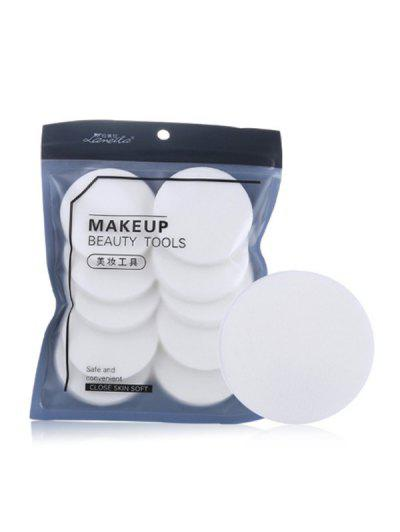 Dry And Wet Use Makeup Tool Powder Puff - White