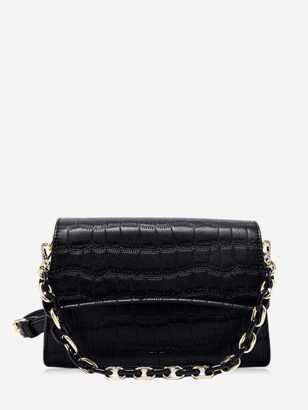 Textured Chain Crossbody Bag