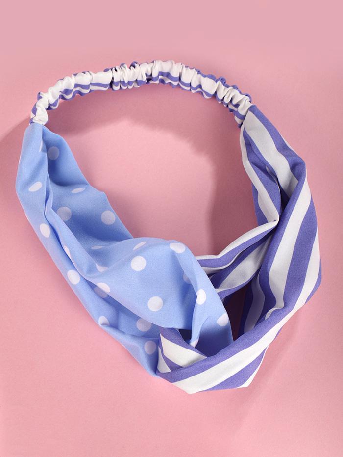 Dot Striped Print Elastic Headband