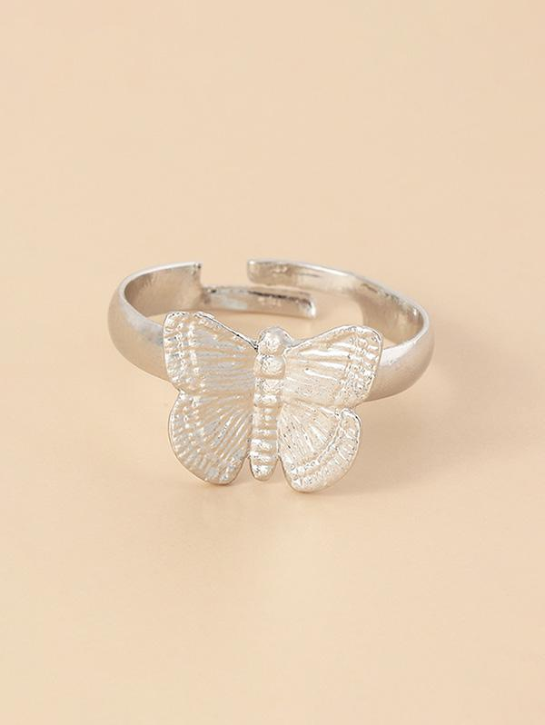 Carved Butterfly Open Ring