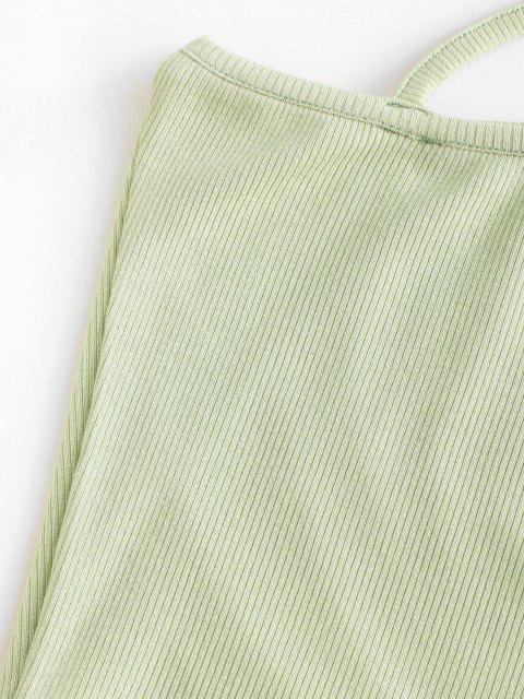 Top Barriga de Fora Ombro Único com Recorte Cortado - Verde XL Mobile