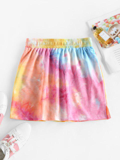 fancy ZAFUL Drawstring Tie Dye A Line Skirt - MULTI-A XL Mobile