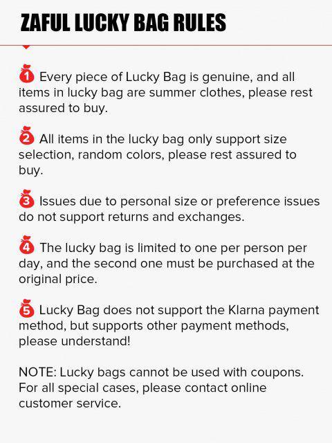 ZAFUL Sommer Glückliche Tasche - 5 Zufällige Artikel Inklusive - für Alle Kategorien - Begrenzte Menge - Multi 2XL Mobile