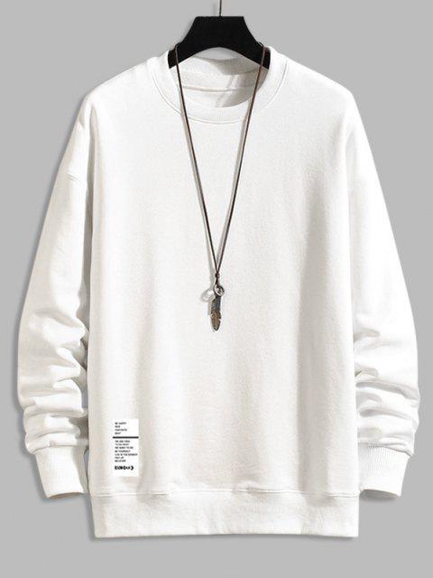 Sweatshirt ImpriméLettreà Col Rond - Blanc 4XL Mobile