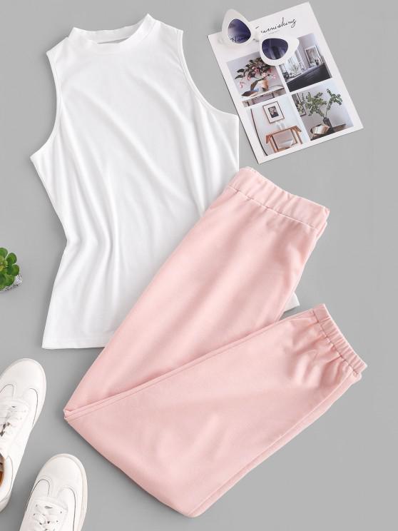 Conjunto de Duas Peças de Lounge com Contraste - Luz rosa XL