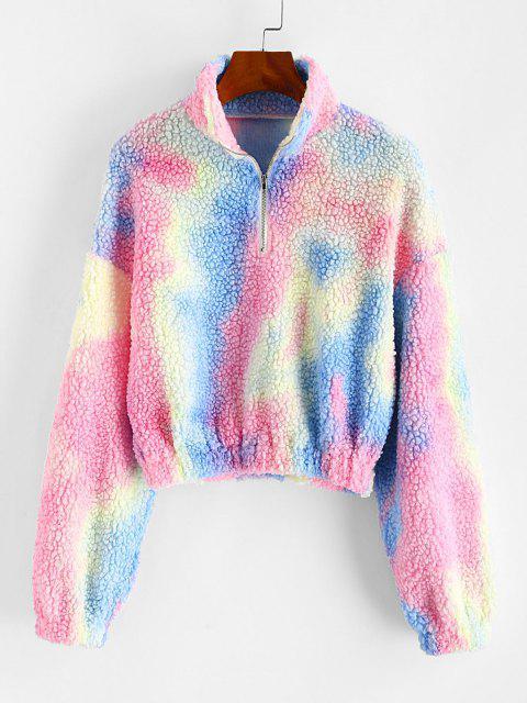 ZAFUL Half Zip Tie Dye Teddy Sweatshirt - متعددة-A S Mobile